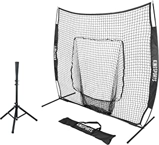 baseball batting tee and net
