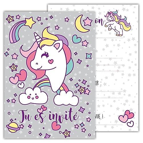 carte invitation Anniversaire Fille: Amazon.fr
