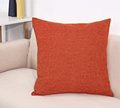 TangDepot Heavy Lined Linen Cushion Cover Throw Pillow Cover Square Decorative Pillow Covers Indoor/Outdoor Pillows Shells...