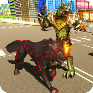 Multi Wolf Robot Transform Hero vs Robot Villains