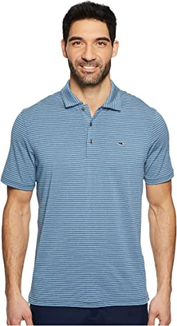 Vineyard Vines Golf - Heathered Wilson Stripe Performance Polo