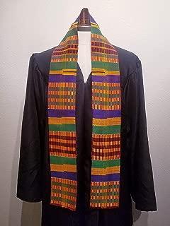 African Kente Cloth Stole Scarf - Multicolor