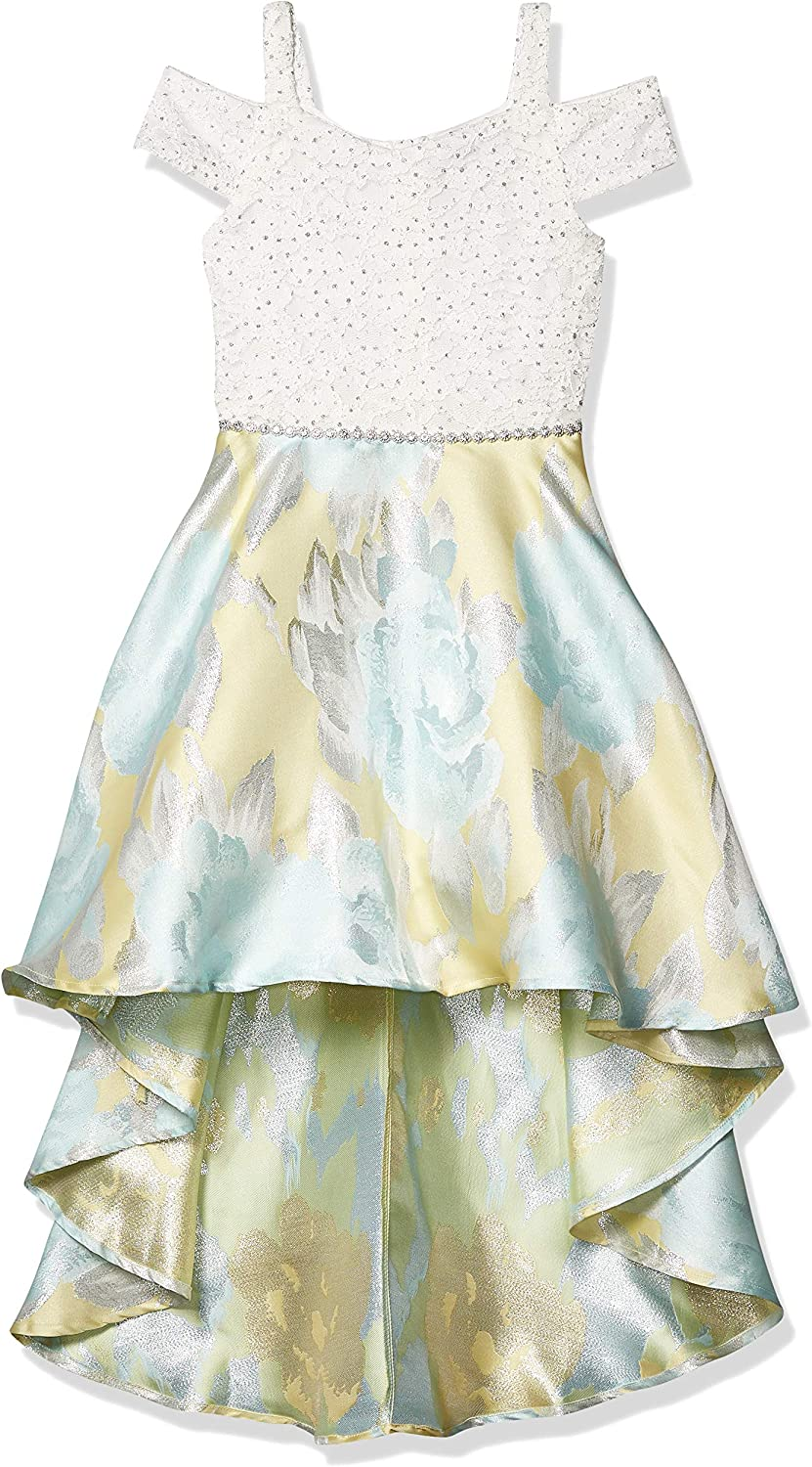 Speechless Girls' Off The Shoulder High Low Party Dress