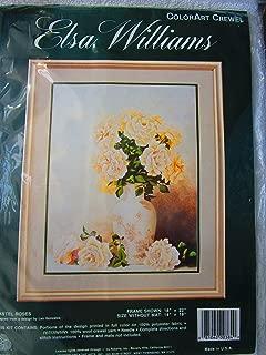 Pastel Roses ColorArt Crewel Kit