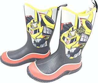 Muck Boot Boys Hale Transformers Bumble Bee Boots Size 5
