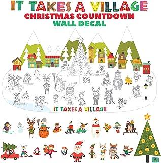My Wonderful Walls Advent Calendar Wall Decal - It Takes a Village Christmas Countdown Sticker Set