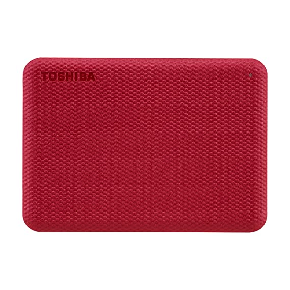 Toshiba Canvio Advance 1TB Portable External HDD, USB3.0 for PC Laptop Windows and Mac. 3 Years Warranty. External Hard Drive - Red