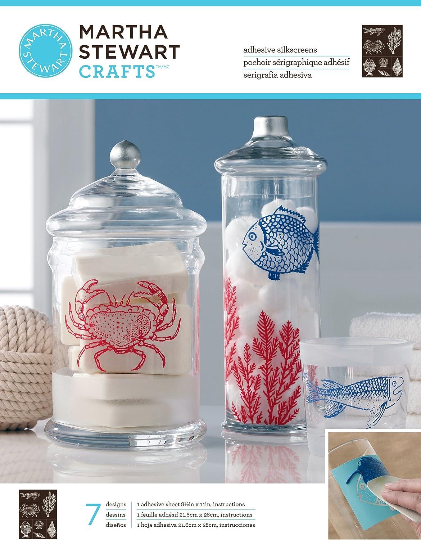 Martha Stewart Silkscreen Glas Ocean Crafts, Crafts, Crafts, Mehrfarbig, Farbe B00CDXOUY4     | Qualität Produkt  f60f88