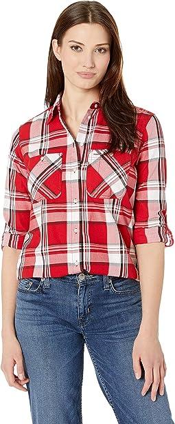 Plaid Cotton-Twill Shirt