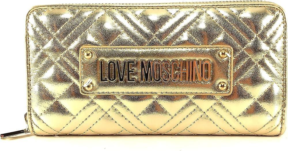 Love moschino porta carte di credito portafogli per donna in pelle sintetica JC5620PP0A1