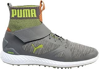 PUMA Men's Ignite Pwradapt Golf Shoes Quiet Shade/Acid Lime