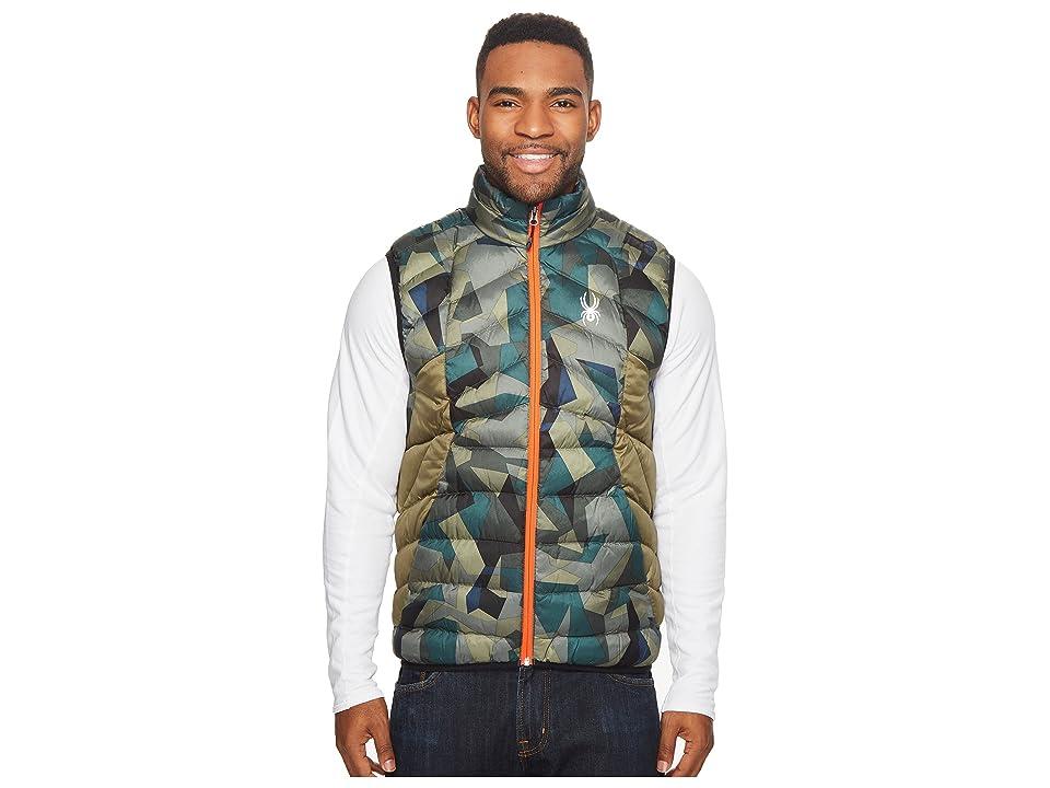 Spyder Geared Synthetic Down Vest (Guard Camo Print/Guard) Men