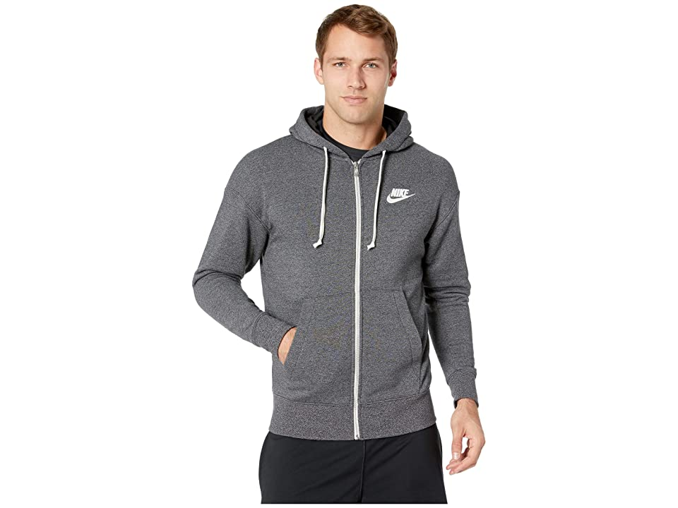 Nike NSW Heritage Hoodie Full Zip (Black/Heather/Sail) Men