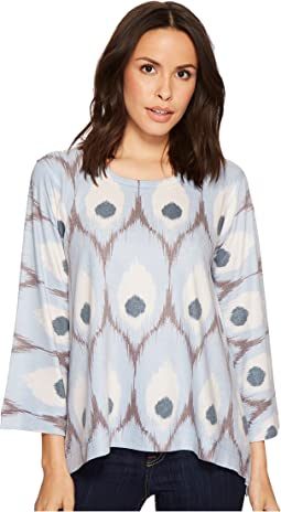 Nally & Millie - Blue Feather Print Top