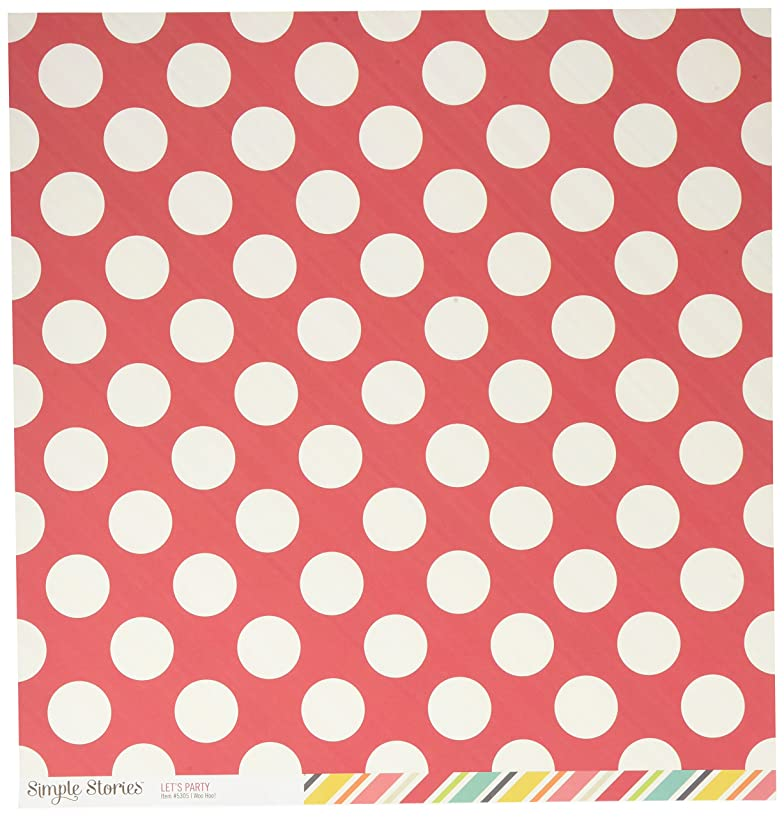 Simple Stories 5305 25 Sheet Woo Hoo Let's Party Double-Sided Cardstock, 12