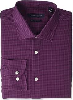 Men's Dress Shirt Slim Fit Stretch Check