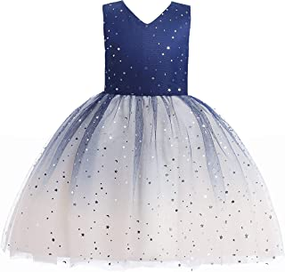 Glamulice Baby Girls Vintage Floral Dress Casual Cotton Backless Straps Beach Flower Summer Dresses
