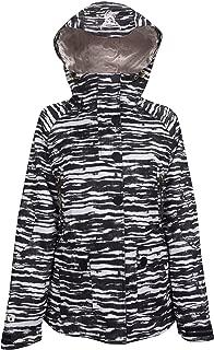 black and white stripe snowboard jacket