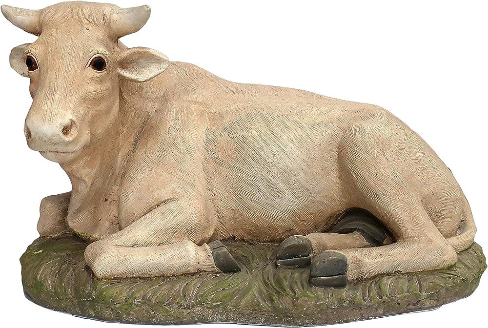 Ferrari & arrighetti statua del presepe: bue linea martino landi 50 cm 2450NABU