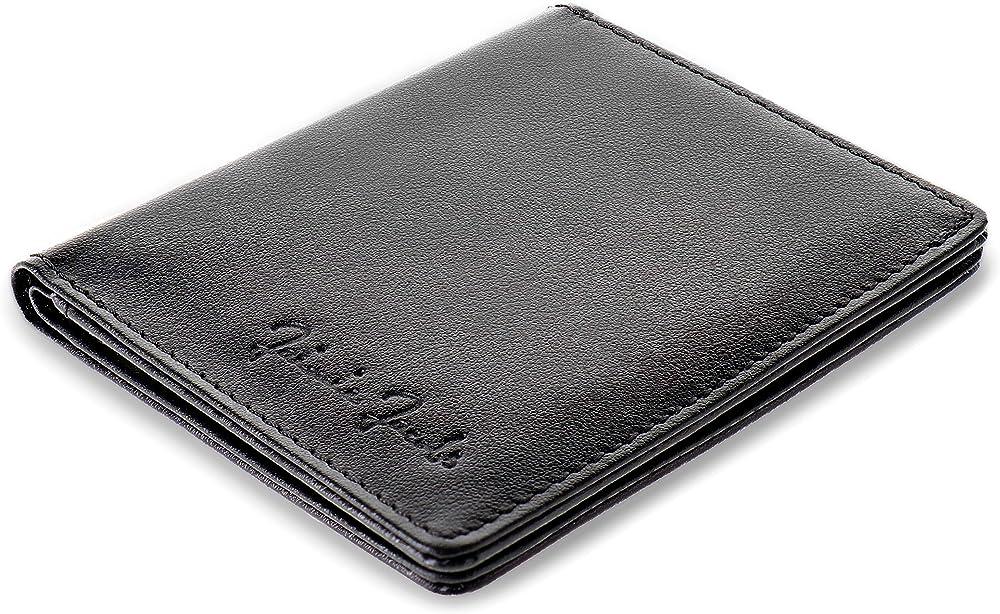 Jaimie jacobs, portafoglio per uomo piccolo, con protezione rfid,  porta carte di credito slimstar