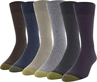 Gold Toe mens 3583S Stanton Crew Socks, 6 Pairs Casual Sock - multi