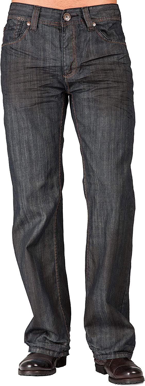 Sales for sale Level 7 Mens Relaxed Max 88% OFF Bootcut Premium Oil Denim Coati Stain Jeans