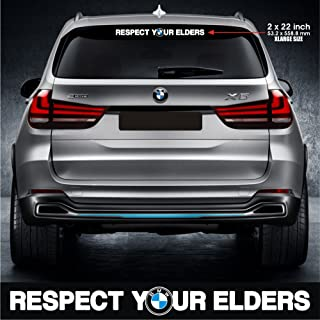 Infinity-270 Respect Your Elders Sticker Decal Motorsports Performance Made in Germany Drift Racing Turbo Window windscreen sunvisor
