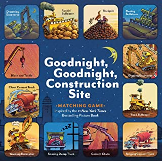 Goodnight, Goodnight, Construction Site Matching Game: (Matching Games for 2-4 Year Olds, Matching Games for Kids, Memory ...