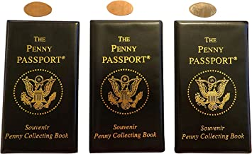 3 Penny Passport Souvenir Elongated Coin Albums With Free Pressed Pennies