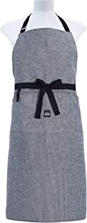 DAILY HOME ESSENTIALS Kitchen Chef Apron with Pockets and Adjustable Neck Strap for Men & Women. Heavy Duty Bib Aprons for Cooking, Grilling, Baking, Crafting, Gardening, BBQ & More (Chambray Black)