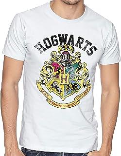 Playera Hombre Nino HARRY POTTER Hogwarts Escudo Camiseta Playeras Personalizadas #674