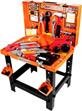 Boley Builders - Construction Workbench and Toy Tools Set - 88 Piece Set Includes Play Hammer, Screwdriver, Wrench, Drill, and More - Perfect for Kids, Toddlers, Children!