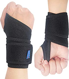 2Pack 2020 New Version Profession Wrist Support Brace, Adjustable Wrist Strap Reversible Wrist Brace for Sports Protecting/Tendonitis Pain Relief/Carpal Tunnel/Arthritis/Injury Recovery, Right&Left