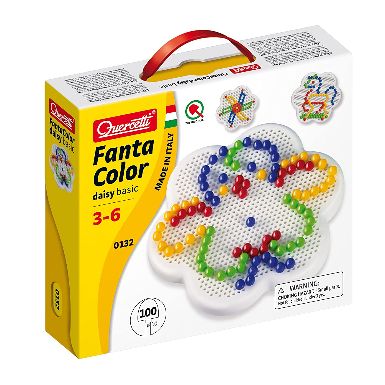 Quercetti Fantacolor ベーシックデイジーペグセット (100ピース)