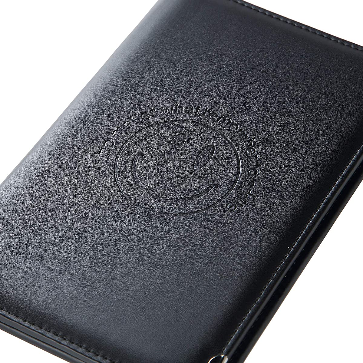Leather Server Book Organizer - for Restaurant Waiter Waitress Waitstaff   Comfortably Fits in Apron   9 Pockets Includes Zipper Pouch with Pen Holder   Holds Guest Checks, Credit Cards, Money, Order