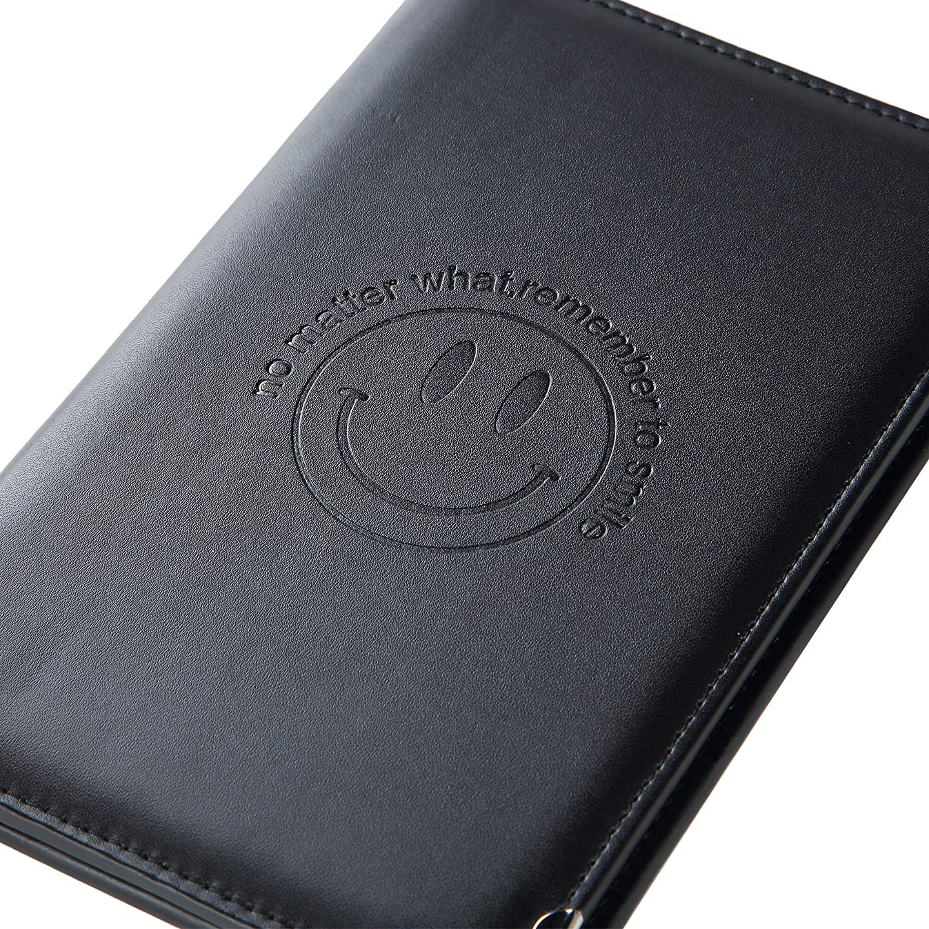 Leather Server Book Organizer - for Restaurant Waiter Waitress Waitstaff | Comfortably Fits in Apron | 9 Pockets Includes Zipper Pouch with Pen Holder | Holds Guest Checks, Credit Cards, Money, Order