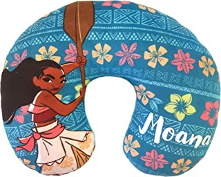 Jay Franco Moana Flower Travel Neck Pillow, Teal
