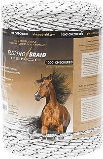 ElectroBraid PBRC1000C2-EB Horse Fence Conductor Reel, 1000-Feet, Checkered