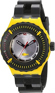 Swatch Unisex SUUJ100 Originals Analog Display Swiss Quartz Black Watch