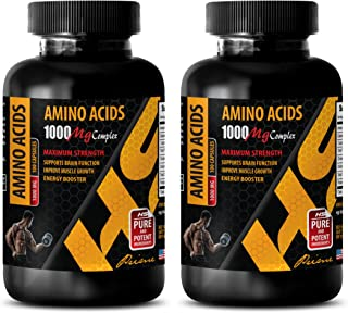 Workout Supplements for Men pre Workout - Amino Acids 1000 mg Complex - Extra Strength - l-Lysine Immune Support - 2 Bottles 200 Capsules