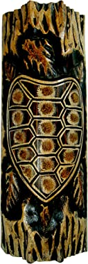 """NareeGreen African Mask Wall Hanging Decor Turtle Fortune and Protection Mask, Large 13"""" Medium"""