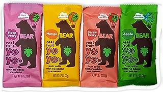 Bear Yoyos Real Fruit Rolls 4 Flavor Sampler Pack 2 Ea