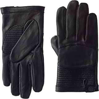 A|X Armani Exchange Men's Leather Glove with Wrist Snap