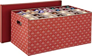 Organize It All Holiday Ornaments Storage Box, 56 Cube Compartments