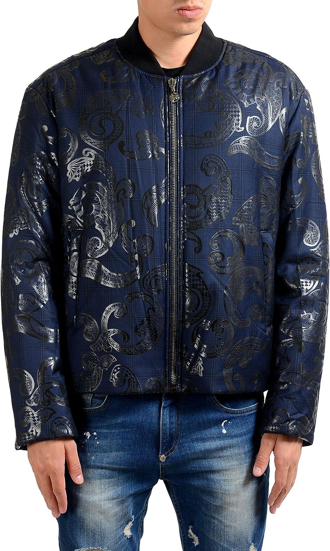 Versace Men's 100% Wool Large discharge sale Dallas Mall Designed Bomber US Jacket M 50 IT Parka