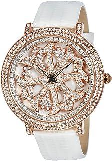 [ブルッキアーナ]BROOKIANA スピンウォッチ ジルコニアストーン クオーツ 腕時計 (ローズゴールドxホワイト)