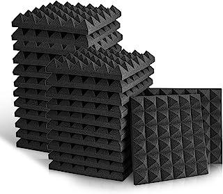 Sonic Acoustics - Paneles de espuma acústica, azulejos de cuña para estudio, de 5 x 30 x 30 cm, paneles de espuma para abs...