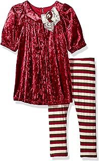 Girls' Toddler Crushed Velvet Dress and Legging Set
