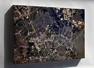 Canvas 16x24; Nasa Johnson Space Center, Houston, Texas Satellite Map Image