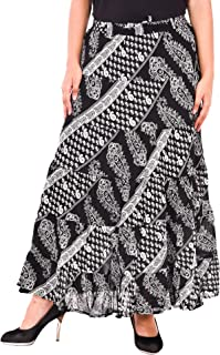 COTTON BREEZE Women's Cotton Skirt (FP433, Free Size)